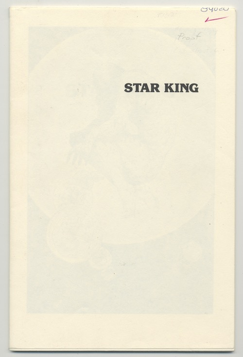 Image for STAR KING—RARE PROOF COPY!